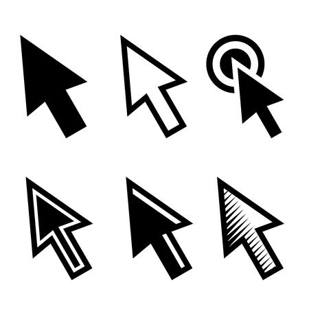 clique: Arrow Cursors Symbol Icons Set on White Background. Vector illustration Illustration
