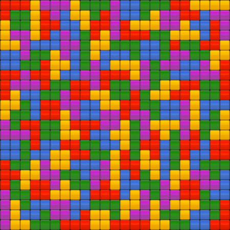 tetris: Color Tetris Bricks Seamless Background. Vector illustration