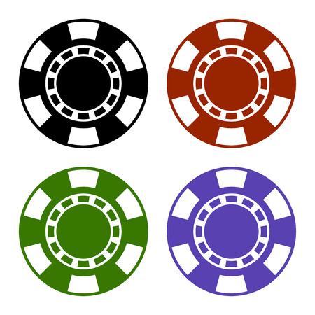 casino tokens: Empty Color Casino Poker Chips Set. illustration