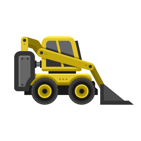 compact track loader: Machine Icon. Flat Style Design. illustration Illustration