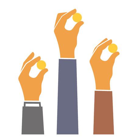 Donner de l'argent Concept. Sponsors Icône. Vector illustration