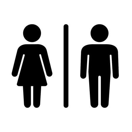 compliant: Man and Woman Icon on White Background. Vector illustration Illustration