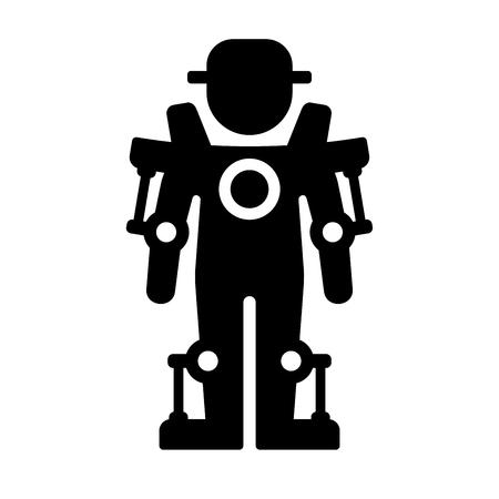 exoskeleton: Exoskeleton Icon on White Background. Vector Illustration