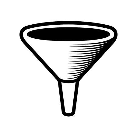 bottleneck: Filter Bottleneck Icon on White Background. Vector illustration
