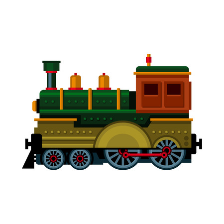 steam locomotive: Retro Train. Steam Locomotive Icon. Vector illustration