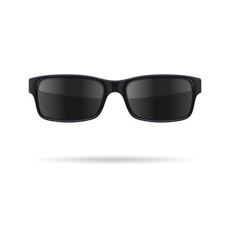 Zonnebril met zwarte bril op witte achtergrond. vector illustratie Vector Illustratie