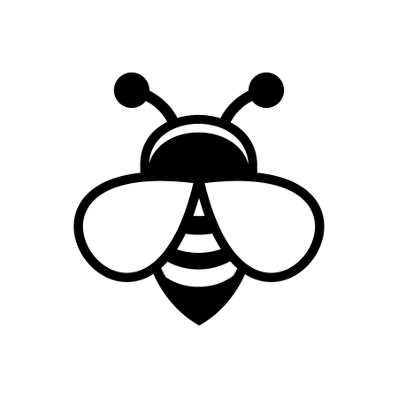 Bee Logo Sign Icon on White Background. Vector illustration