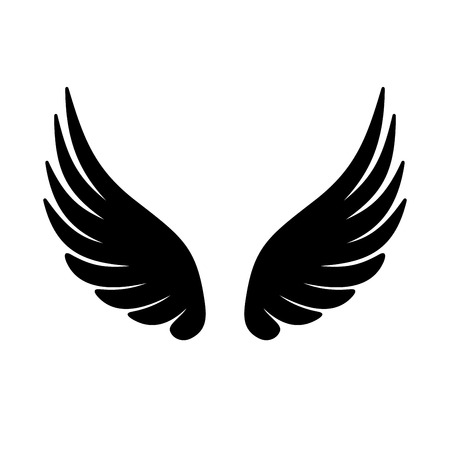 Wing Icon on White Background. illustration