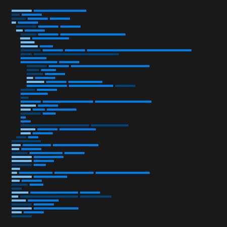 programming code: Program Code Listing, Abstract Programming Background. Vector illustration Illustration