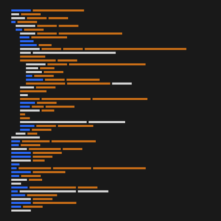 byte: Program Code Listing, Abstract Programming Background. Vector illustration Illustration