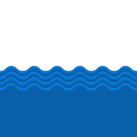 deep blue: Blue Sea Wave Seamless Background. Vector illustration Illustration