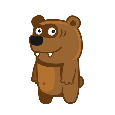 baby illustration: Bear. Cartoon Style Funny Animal on White Background. Vector illustration