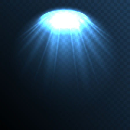 stage lights: Stage ies lights with smoky effect background. Vector