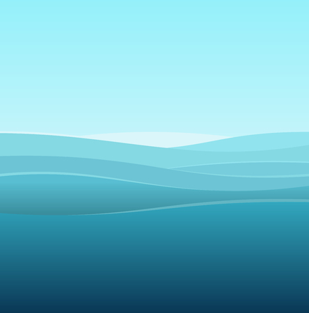 blue waves vector: Sea Abstract Background of Blue Waves. Vector illustration