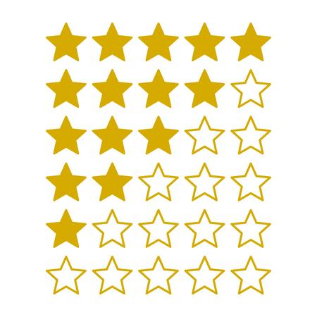 estimation: Simple Rating Stars on White background. Vector illustration Illustration
