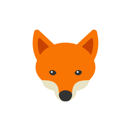 Red Fox Head Logo en el fondo blanco. Ilustración del vector Foto de archivo - 58784765