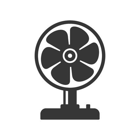 aeration: Fan Icon on White Background. Vector Illustration Illustration
