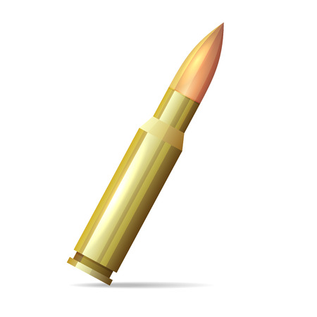 Bullet Realistic Style on White Background. Vector illustration