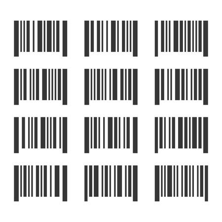 bar codes: Bar Codes Set on White Background. Vector illustration Illustration