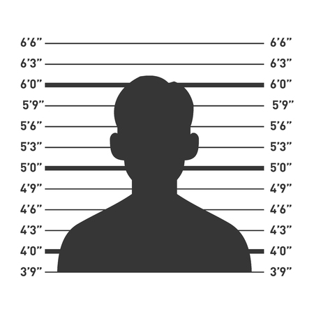 lineup: Police Lineup with Man Silhouette. Vector illustration Illustration