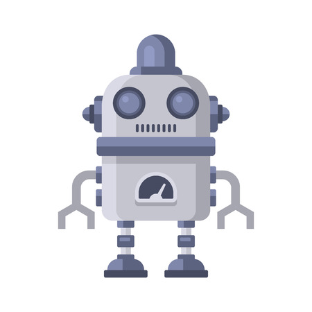 space antenna: Fiction Robot on White Background. Vector Illustration. Illustration