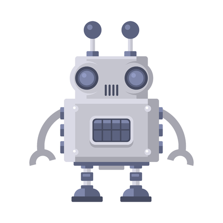 Fiction Robot on White Background. Vector Illustration. Illustration