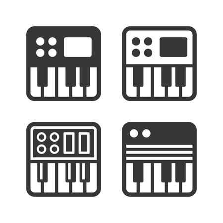 synthesize: Synthesize Icon Set on White Background. Vector illustration