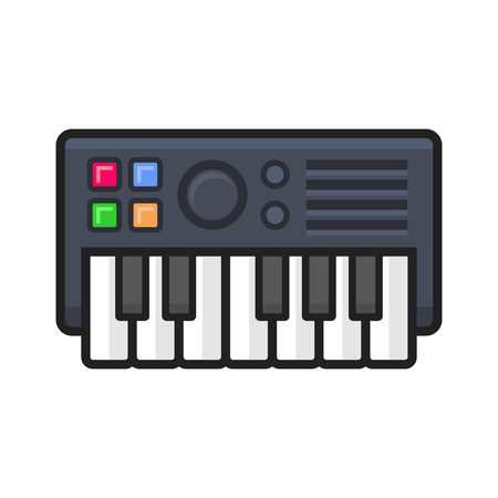 synthesize: Synthesize Icon on White Background. Vector illustration