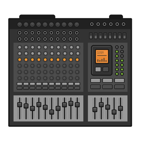 mixer console: Studio Sound Mixer. Music Equalizer Console. Vector illustration Illustration