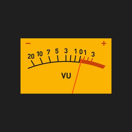 threshold: Analog Volume Unit Meter Measuring Device. Vector illustration