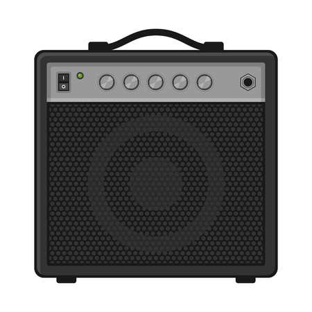 guitar amplifier: Electric Guitar Amplifier on White Background. Vector illustration