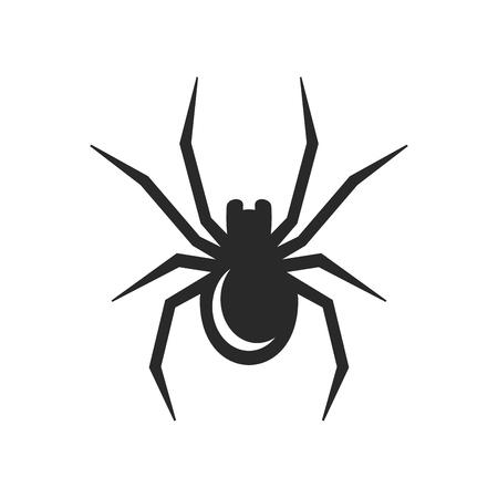 白地蜘蛛アイコン。ベクトル図  イラスト・ベクター素材