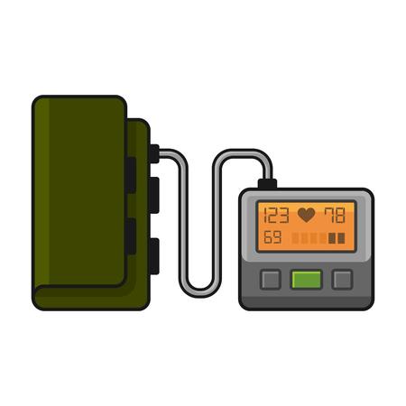 tonometer: Tonometer. Flat Style Illustration on White Background. Vector illustration