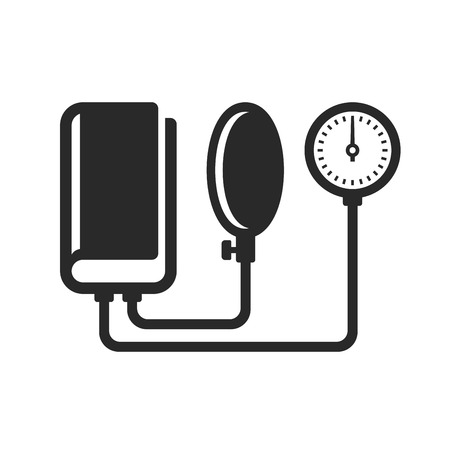 tonometer: Tonometer Icon on White Background. Vector illustration
