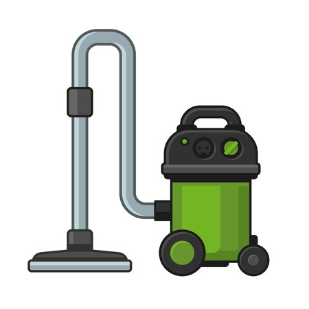 hoover: Vacuum Cleaner on White Background. Vector illustration Illustration