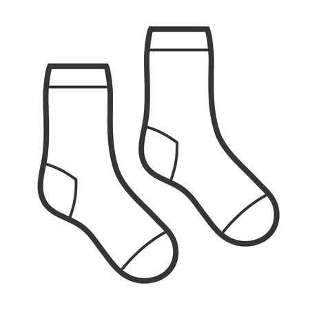 Pair of White Socks Icon. Vector illustration