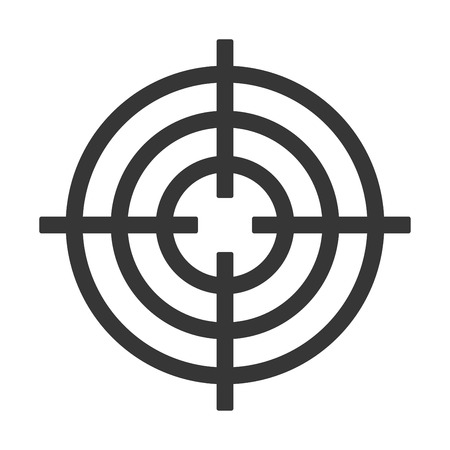 Shooting Target Icon Isolated on White Background. Vector illustration  イラスト・ベクター素材
