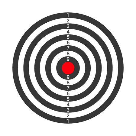 Shooting Target Icon Isolated on White Background. Vector illustration Illustration