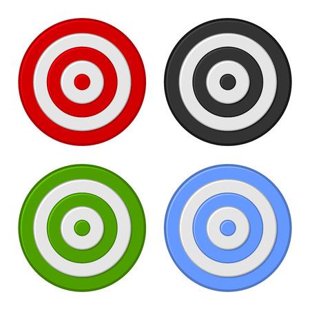 Tiro al blanco icono conjunto aislado en el fondo blanco. ilustración vectorial