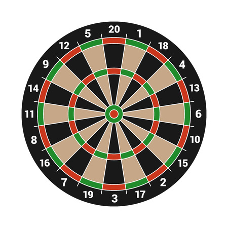 midsection: Dartboard Isolated on White Background. Vector illustration