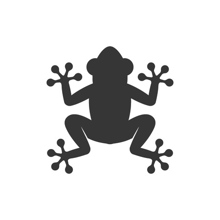 Frog Icon on White Background. Vector illustration