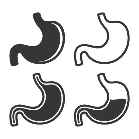 acid reflux: Stomach Icon Set on White Background. Vector illustration Illustration