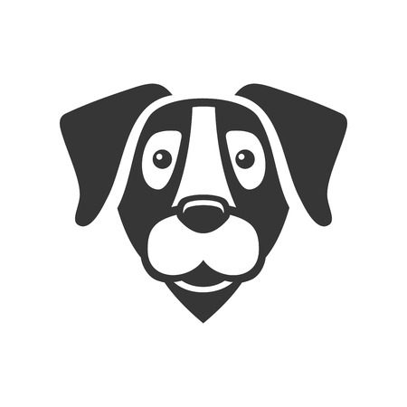 illustration isolated: Labrador Retriever Dog Head Icon . Vector illustration