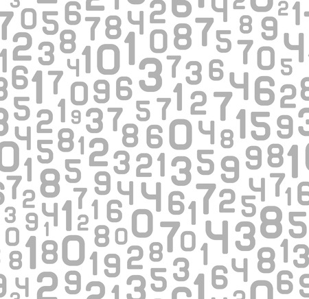 modern wallpaper: Abstract Background with Numbers. Vector Monochrome Illustration
