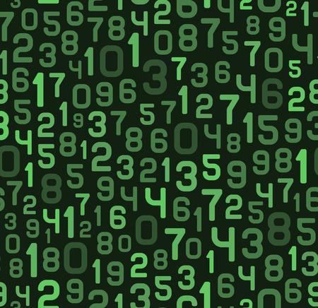 Fondo abstracto con números. Ilustración vectorial blanco y negro