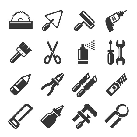 clasp knife: DIY Hand Tools Icons Set. Vector