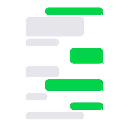 short message service: Short Message Service SMS Blank Bubbles Set. Vector Illustration