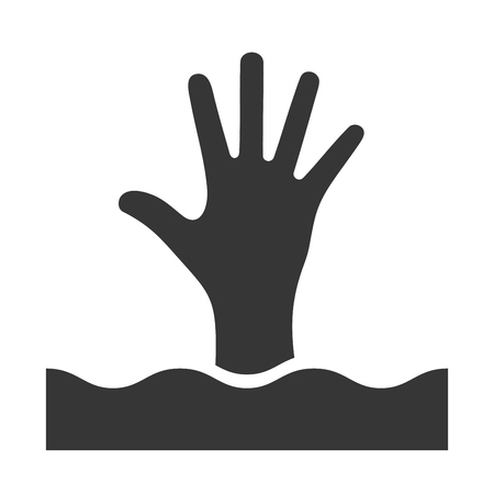 help: Open Hand Help Icon Illustration