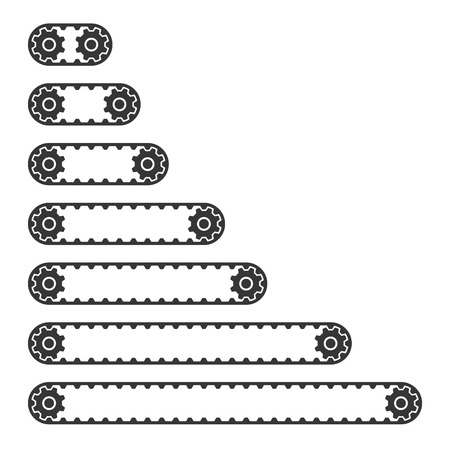 Conveyor Belt Line Set on White Background. Vector illustration 版權商用圖片 - 72369471