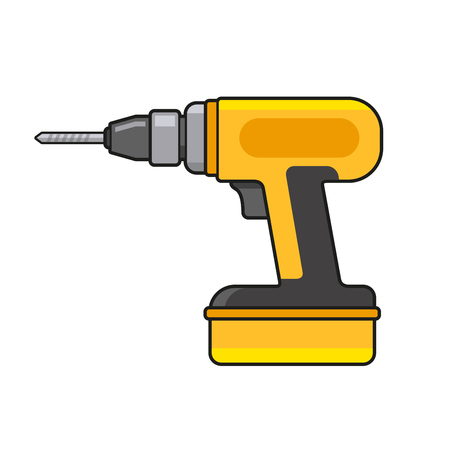 Electric Hand Drill Icon. Vector